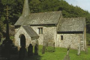 Culbone church,  Coast Path in South West England  hiking trails