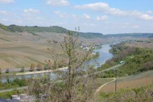 the Moselle and Saar area, Germany. hiking trails