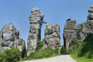 If you ontinue: the Externsteine, almost at the end of the trail (near Detmold) hiking trails