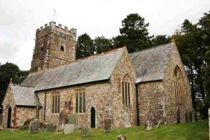 Exford church St. Mary Magdalene,  Exmoor Nationaal Park, Engeland wandelroutes