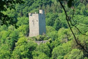 ruin, A walk along the Lahn River, Germany, hiking trails