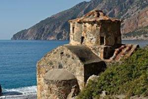 chapel agios pavlos, Crete south-west: Sfakia. hiking trails