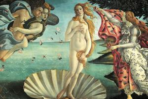 Botticelli birth of Venus, Uffizi, Florence hiking trails