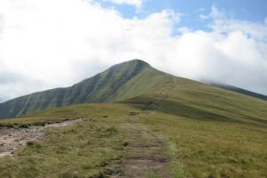 landschap Brecon Beacons, het Nationaal Park de Brecon Beacons, Wales wandelroutes