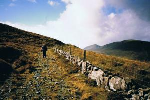 near Cahersiveen,  the Kerry way Ireland  hiking trails