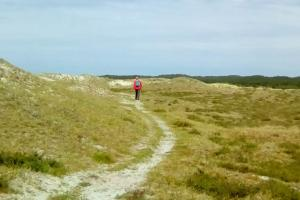 Starting on the beach and in the dunes of the Netherlands hiking trails
