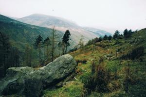 Glenmalure valley in the rain.....the Wicklow way, Ireland  hiking trails