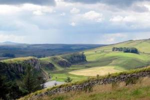 the landscape, the Hadrian's Wall Walk, England  hiking trails