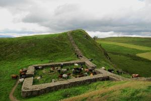 mile castle ( with residents), the Hadrian's Wall Walk,  hiking trails