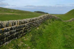 the wall, the Hadrian's Wall Walk, England  hiking trails
