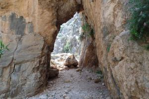 Imbros gorge, Crete south-west: Sfakia. hiking trails