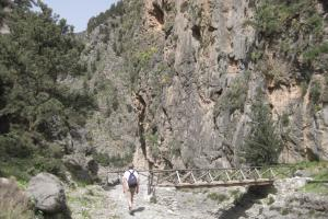 entrance Samaria gorge, Crete south-west: Sfakia. hiking trails