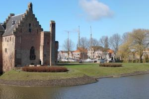 Radboud Castle Medemblik,from the North Sea coast in the Netherlands to Leer in Germany. hiking trails
