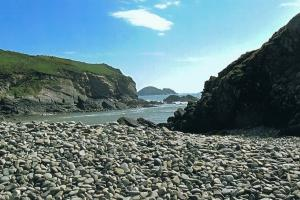 near Porthclais Harbour, the Southwest corner of Wales. hiking trails