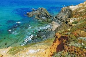 the colors of the Rota Vicentina (Fishermen trail)  hiking trails