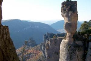 Rocher de Capluc, the Cevennes: the rivers, the canyons, France  hiking trails