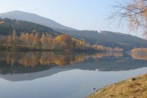 lake Lipno, the Czech Republic  the south of Bohemia  hiking trails