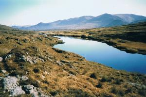 Lough Fadda, de Beara-way Ierland wandelroutes