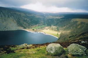 Lough Tay, the Wicklow way, Ireland  hiking trails