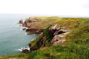 Pembrokeshire Coast Path,  the Southwest corner of Wales. hiking trails