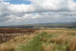 peet..moorlands,  the Pennine way central and north, England  hiking trails