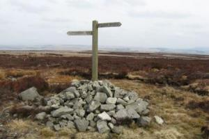 near Bellingham,  the Pennine way central and north, England  hiking trails