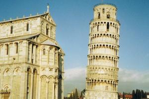 a tower, Pisa,  Florence and Siena, Toscana Italy hiking trails