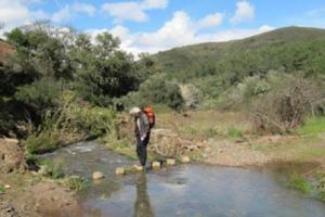 a normal crossing of a river  Via Algarviana Portugal   hiking trails