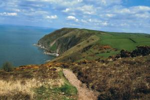 the path.. Coast Path in South West England  hiking trails