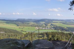 view from Brumov walls, Czech Republic  hiking trails
