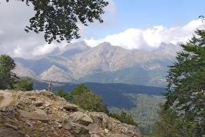 view on the GR 20 Corsica France hiking trails