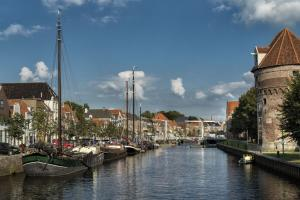 city of Zwolle, along the Vecht river in Overijssel, the Netherlands hiking trails