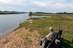 pause, along the Vecht river in Overijssel, the Netherlands hiking trails