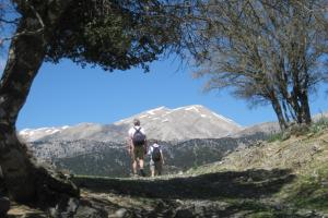 The White Mountains or Lefka Ori, Crete, hiking trails Greece.