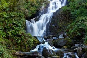 Torc waterfalls at the start of the trail hiking trails Ireland Kerry way