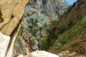 Goruppu canyon, hiing trails Sardinia Italy