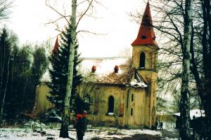 church  outside the village