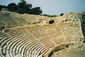 Roman theater near Patara, Lycian way hiking trails Turkey