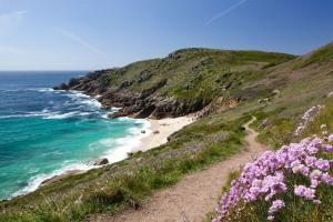 typical beach, south west coast path hiking trails England