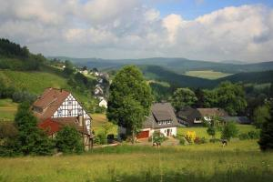 splendid view on Rinsecke, hiking trails Germany Sauerland