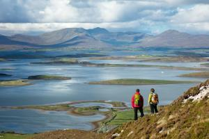 view Croagh Patrick hiking trails Ireland The Western Way